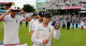 England's Joe Root was named man of the match in the second Test against Pakistan at Old Trafford. Photograph: PA