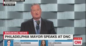 Philadelphia mayor Jim Kenney gave a speech at the Democratic National Convention about discrimination faced by Irish Catholic immigrants in the 1840s.