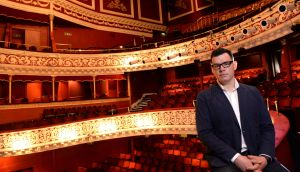 Willie White, Director of the Dublin Theatre Festival, pictured in the Gaiety Theatre, Dublin. Photograph: Dara Mac Dónaill / The Irish Times