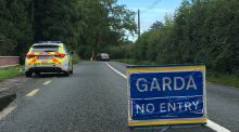 The scene of a fatal road crash in Dunboyne, Co Meath. Photograph: Alan Betson