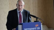 Jeremy Masding, group chief executive of Permanent TSB: the bank announced its first profit since 2007,  bringing its stock up 4.73 per cent to €2.168.  Photograph: Dara Mac Dónaill