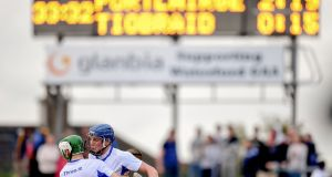 Austin Gleeson and Mark O'Brien of Waterford celebrate their side's victory at the final whistle of the Bord Gáis Energy Munster GAA Hurling U21 Championship Final match between Waterford and Tipperary at Walsh Park in Waterford. Photo: Stephen McCarthy/Sportsfile