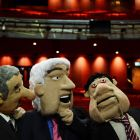 Puppets from Anglo: The Musical. Photograph: Frank Miller