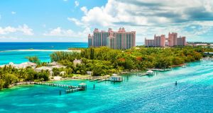 The Atlantis beach resort at Nassau, The Bahamas. Photograph: Getty