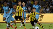 Borussia Dortmund's Emre Mor controls the ball during the 2016 International Champions Cup clash with Manchester City. Photo: Wang Zhao/Getty Images