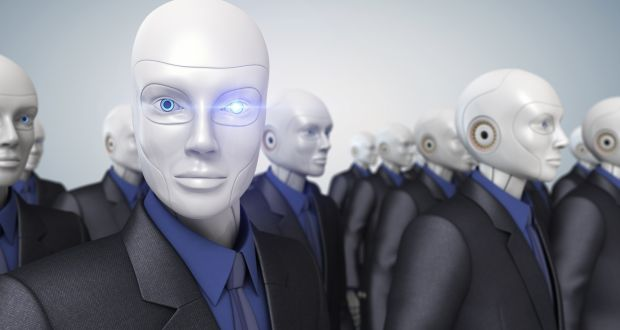 The old view of robot servants is being challenged by software-based processes which carry out boring and repetitive tasks within a company's IT system. Photograph: Getty Images