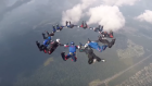 Aerial acrobatics in the sky for world championship