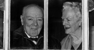 Winston and Clementine Churchill: rarely talked before 1pm