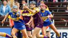 Wexford's Siona Nolan eludes  Tipperary's Megan Ryan and Teresa Ryan. Photograph: Ken Sutton/Inpho