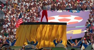 Diana Ross performs at the 1994 World Cup opening ceremony at Soldier Field in Chicago. Photograph: David Cann/Getty Images