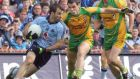 The 2014 All-Ireland semi-final: Donegal 3-14 Dublin 0-17 was arguably Jim McGuinness's greatest moment as a manager