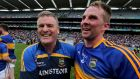 "Tipperary captain Peter Acheson, pictured with manager Liam Kearns after Sunday's quarter-final victory over Galway: ""I'm the third-oldest player and I'm only 26 but the young fellas, they are brave out. They go for it, which suits our style of play."" Photograph: Donall Farmer/Inpho"
