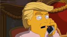 The Simpsons take on a Trump presidency