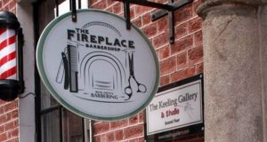 The Fireplace Barbershop on Dublin's South William Street.