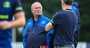 Graham Henry at aLeinster Rugby open training session at Greystones RFC, Co. Wicklow. Photograph: Inpho