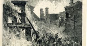 The Illustrated London News depicts the fire in the Liberties in 1875. Photograph: Illustrated London News/ South Dublin County Council Digital Library