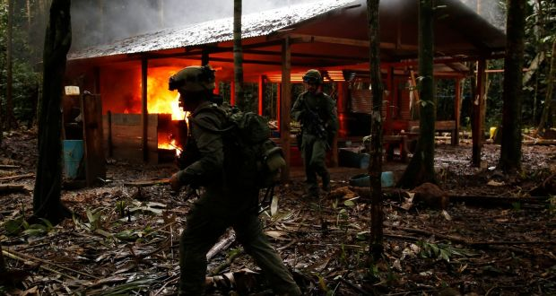 Colombia destroys 104 jungle cocaine laboratories