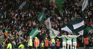 There is a one in five chance that Dundalk fans could be making the trip to Celtic Park. Photograph: Russell Cheyne/Reuters