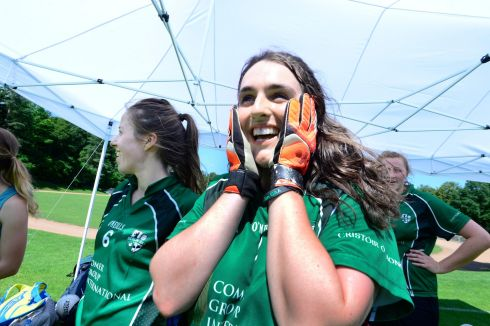 Dervla Nash from Scariff, Co Clare playing for Berlin.