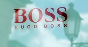 Quarterly net profit at Hugo Boss fell 84 per cent to €11 million on sales down 4 per cent to €622 million. The net profit missed average analyst forecasts for €36 million, while sales were ahead of a consensus for €611 million. Photograph: Grigory Dukor/Reuters