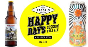 Roscommon brewery Black Donkey does a tasty Irish saison called Sheep Stealer; Rascals Happy Days session pale ale is a summer seasonal; Juicebox Citrus IPA by  Fourpure has a grassy, hoppy aroma