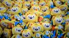 Stuffed toy mascots for the Rio Olympics are piled up at the official Olympics megastore on Copacabana beach. Photograph: AFP / Kirill Kudryavtsev / Getty Images