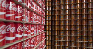 Coca-Cola: results out on Thursday. Photograph: Jasper Juinen/Bloomberg
