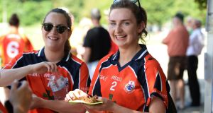 Karen Maguire from Tipperary and Cait Lynch from Castleisland both play for the Dutch team Hollux. Photograph: Cyril Byrne / The Irish Times