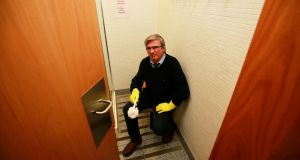 Tim O'Brien: 'I'm getting out because I'm sick of cleaning lavatories for a bank.' Photograph: Nick Bradshaw
