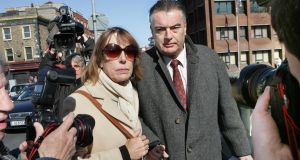 Ian Bailey and his partner Jules Thomas leaving the Four Courts in Dublin in 2011. Photograph: Matt Kavanagh