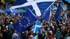 Thousands of people take part in the 'All Under One Banner' march for Scottish independence through Glasgow city centre on July 30th, 2016.  Photograph: Jane Barlow/PA