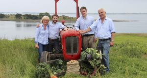 Tracy, Jack, Lance and Martin Hamilton of Mash Direct on their family farm:their business employs more than 180 people and  has an annual turnover in excess of £15m
