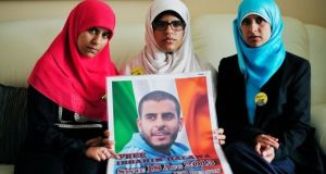 Omaima (left), Fatima and Somaia Halawa, sisters of Ibrahim Halawa, continue to campaign for their brother's release. File photograph: Aidan Crawley