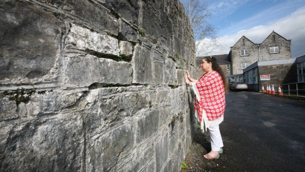 Neisha Wratten at the Carrick-on-Shannon workhouse from which her ancestor Bridget Cannon was taken to Australia in 1849. Photograph: Brian Farrell