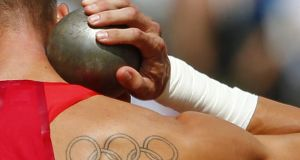 1. Decathlon (pictured is shot-put, one of the even'ts constituent elements). Photograph: Kai Pfaffenbach/Reuters