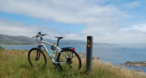 Time for a break from the bike: Looking out to Bantry Bay and the Caha Mountains from Bere Island. Photographs: Lenny Antonelli