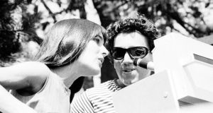 In tune with his times: Richard Fariña  with his wife Mimi, sister of Joan Baez. Photograph: Ochs/Getty