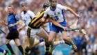 Kilkenny's Walter Walsh attempts to win possession from  Pauric Mahony of Waterford during last week's match at Croke Park. Photograph: Ryan Byrne/Inpho.