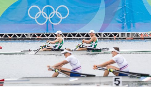 Ireland's Gary and Paul O'Donovan pull like dogs in the Men's Lightweight Double Sculls Final during the Rio 2016 Olympic Games. Photograph: Morgan Treacy/Inpho