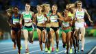 Round one of the Women's 1500 metres at the Olympic Stadium on Friday night. Photograph: Cameron Spencer/Getty Images