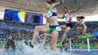 Ireland's Sara Louise Treacy during the 3000m steeplechase round one on Saturday. Photograph: Getty Images