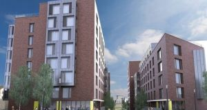 Binary Hub: Student accommodation off Thomas Street in Dublin built by Threesixty Developments