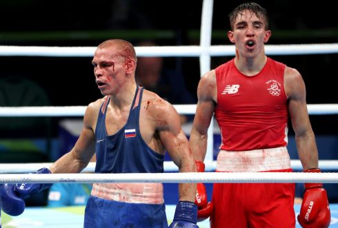 DAMAGE DONE: Some of the damage done during the bout between Michael Conlan and Vladimir Nikitin is obvious.  Photograph: Dan Sheridan/InphoDAMAGE DONE: Some of the damage done during the bout between Michael Conlan and Vladimir Nikitin is obvious.  Photograph: Dan Sheridan/InphoDAMAGE DONE: Some of the damage done during the bout between Michael Conlan and Vladimir Nikitin is obvious.  Photograph: Dan Sheridan/Inpho
