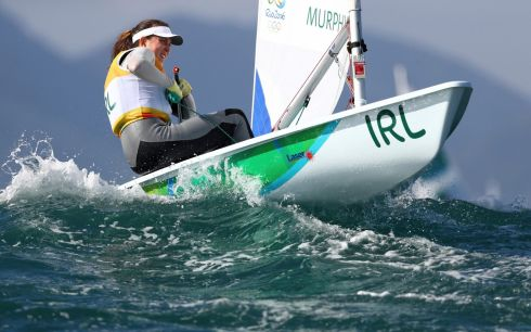 Annalise Murphy (IRL) of Ireland competes in race seven of the series in Rio.  Photograph:Benoit Tessier /Reuters