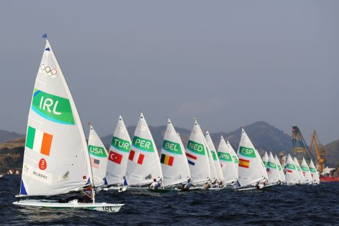 Annalise Murphy of Ireland competes in the Women's Laser Radial class on Day 4 of the Rio 2016 Olympic Games at the Marina da Gloria on August 9th in Rio de Janeiro, Brazil.  Photograph: Paul Gilham/Getty Images