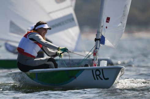 Ireland's Annalise Murphy competes in the Laser Radial Women medal race at Marina da Gloria during the Rio 2016 Olympic Games in Rio de Janeiro on August 16th. Photograph: William West / AFP
