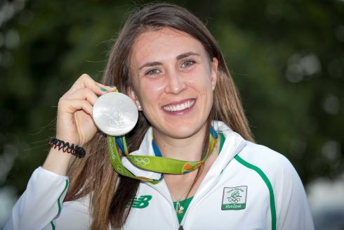 Ireland's Annalise Murphy with her silver medal.   Photograph: Morgan Treacy / INPHO