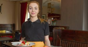 Donegal Manor waitress Chantelle McInern serving breakfast. Photograph: North West Newspix