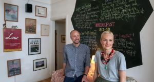 Emer Fitzpatrick and Russell Hart in The Stop B&B at Fr Griffin Road in Galway. Photograph: Joe O'Shaughnessy