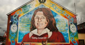 Bobby Sands: buried at Milltown, Belfast. Photograph: Peter Macdiarmid/Getty